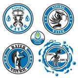 Iconos del agua Fotografía de archivo