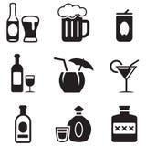 Iconos del alcohol Foto de archivo libre de regalías