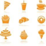 Iconos del alimento Imágenes de archivo libres de regalías