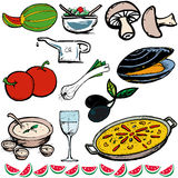Iconos del alimento libre illustration