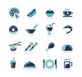 Iconos del alimento - 2 series del azul de // libre illustration