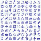 Iconos del alimento Imagen de archivo