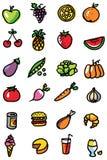 Iconos del alimento Fotos de archivo