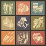 Iconos 1 del alimento stock de ilustración