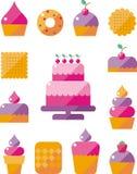 Iconos del alimento Imagen de archivo libre de regalías