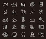 Iconos del alimento Fotografía de archivo