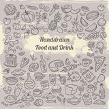 Iconos del alimento Fotos de archivo libres de regalías