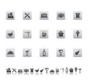 Iconos del alimento ilustración del vector