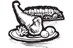 Iconos del alimento de Grecia Ilustración del Vector