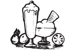 Iconos del alimento de Grecia Imagen de archivo libre de regalías