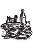 Iconos del alimento de Grecia Fotos de archivo libres de regalías