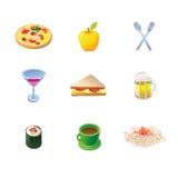 Iconos del alimento del vector Imagen de archivo