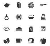 Iconos del alimento fijados Imágenes de archivo libres de regalías