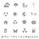 Iconos del ambiente y de la ecología Foto de archivo libre de regalías