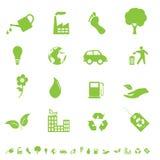 Iconos del ambiente y del eco Imágenes de archivo libres de regalías