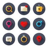 Iconos del amor Imagenes de archivo