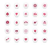 Iconos del amor fijados Imagenes de archivo