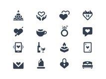Iconos del amor y de los pares Fotos de archivo libres de regalías