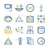 Iconos del Analytics fijados libre illustration