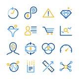 Iconos del Analytics fijados stock de ilustración