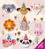 Iconos del animal de la historieta Foto de archivo libre de regalías