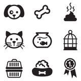 Iconos del animal doméstico Imagen de archivo libre de regalías