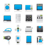 Iconos del aparato electrodoméstico Foto de archivo