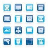 Iconos del aparato electrodoméstico Fotos de archivo libres de regalías