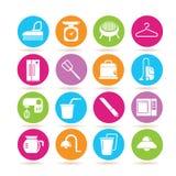 Iconos del aparato electrodoméstico Fotografía de archivo libre de regalías