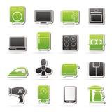 Iconos del aparato electrodoméstico Fotos de archivo