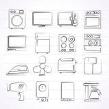 Iconos del aparato electrodoméstico Fotografía de archivo