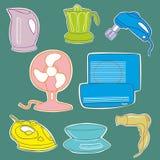 Iconos del aplliance de la cocina del hogar fotografía de archivo libre de regalías