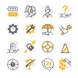 Iconos del apoyo a empresas ilustración del vector