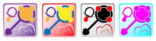 Iconos del App del bebé Foto de archivo
