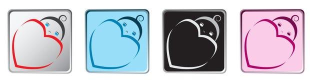 Iconos del App del bebé Fotografía de archivo