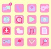 Iconos del app del teléfono móvil Imagen de archivo libre de regalías