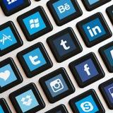 Iconos del App en el teclado Foto de archivo libre de regalías