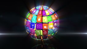 Iconos del App en globo de giro