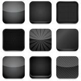Iconos del App - negro Foto de archivo libre de regalías