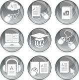 Iconos del aprendizaje electrónico Foto de archivo libre de regalías