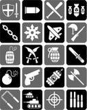 Iconos del arma Imagen de archivo