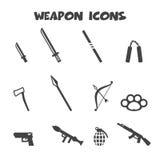 Iconos del arma Imágenes de archivo libres de regalías