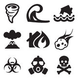 Iconos del Armageddon Imagen de archivo libre de regalías
