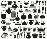 Iconos del artículos de cocina Foto de archivo libre de regalías