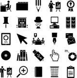 Iconos del asunto Fotografía de archivo