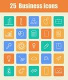 25 iconos del asunto Imágenes de archivo libres de regalías