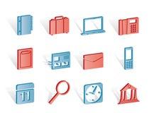 Iconos del asunto, de la oficina y del teléfono móvil libre illustration