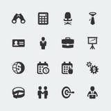 Iconos del asunto del vector fijados Imagenes de archivo