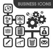 Iconos del asunto fijados stock de ilustración
