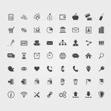 Iconos del asunto fijados ilustración del vector